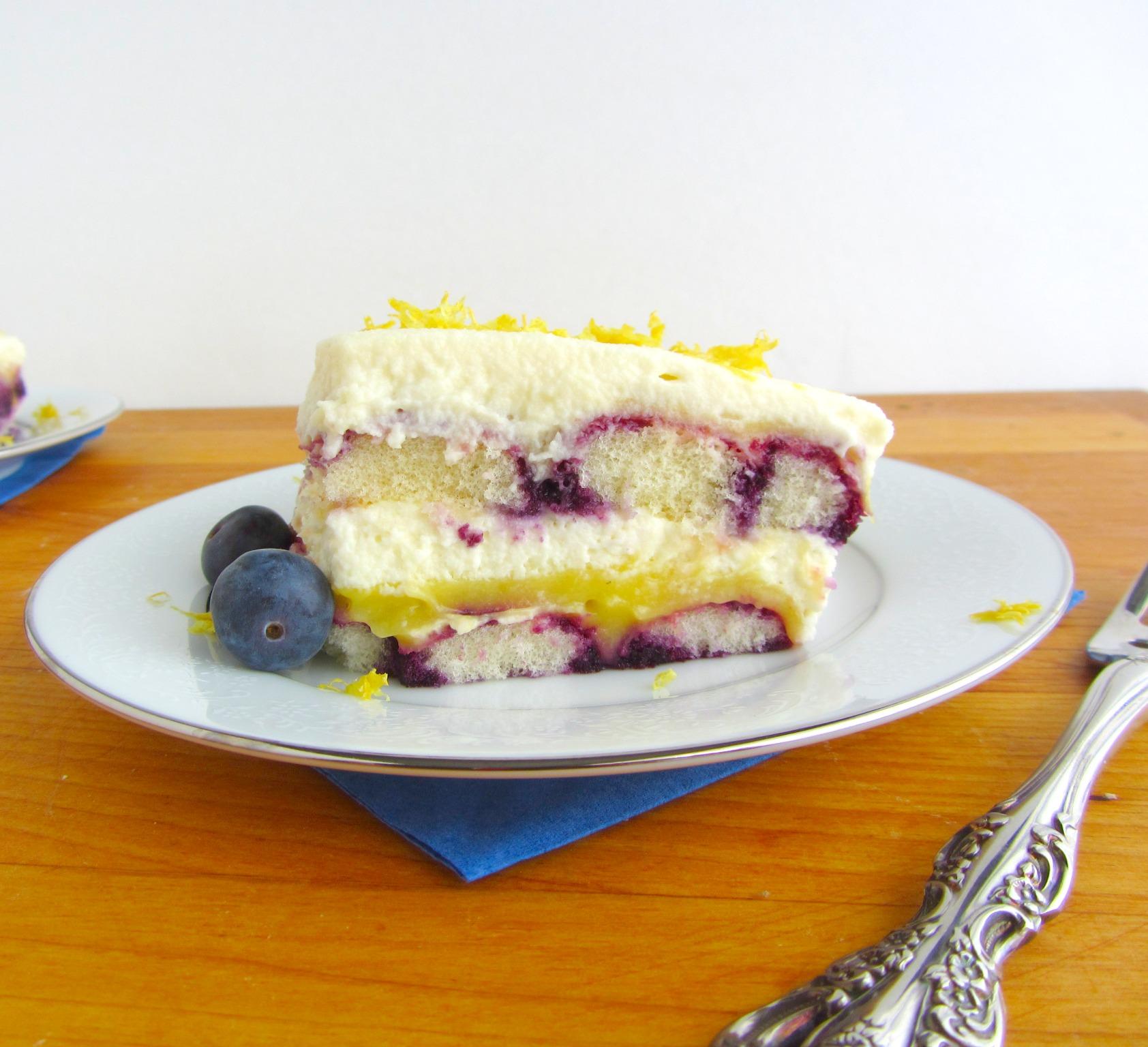 Lemon Blueberry Tiramisu