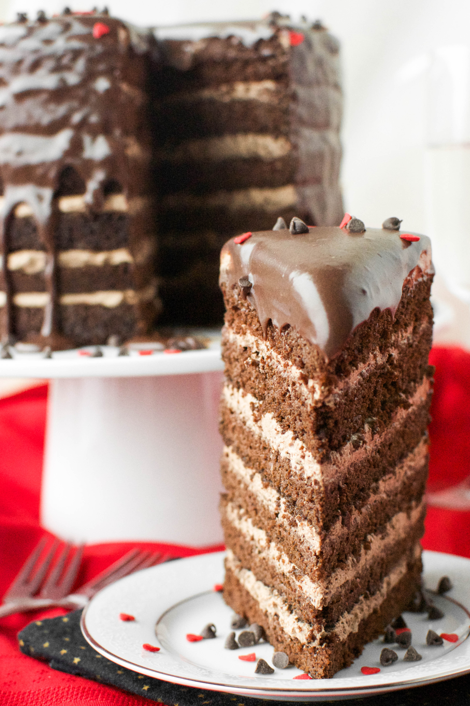 Mile High Chocolate Mousse Cake | A baJillian Recipes