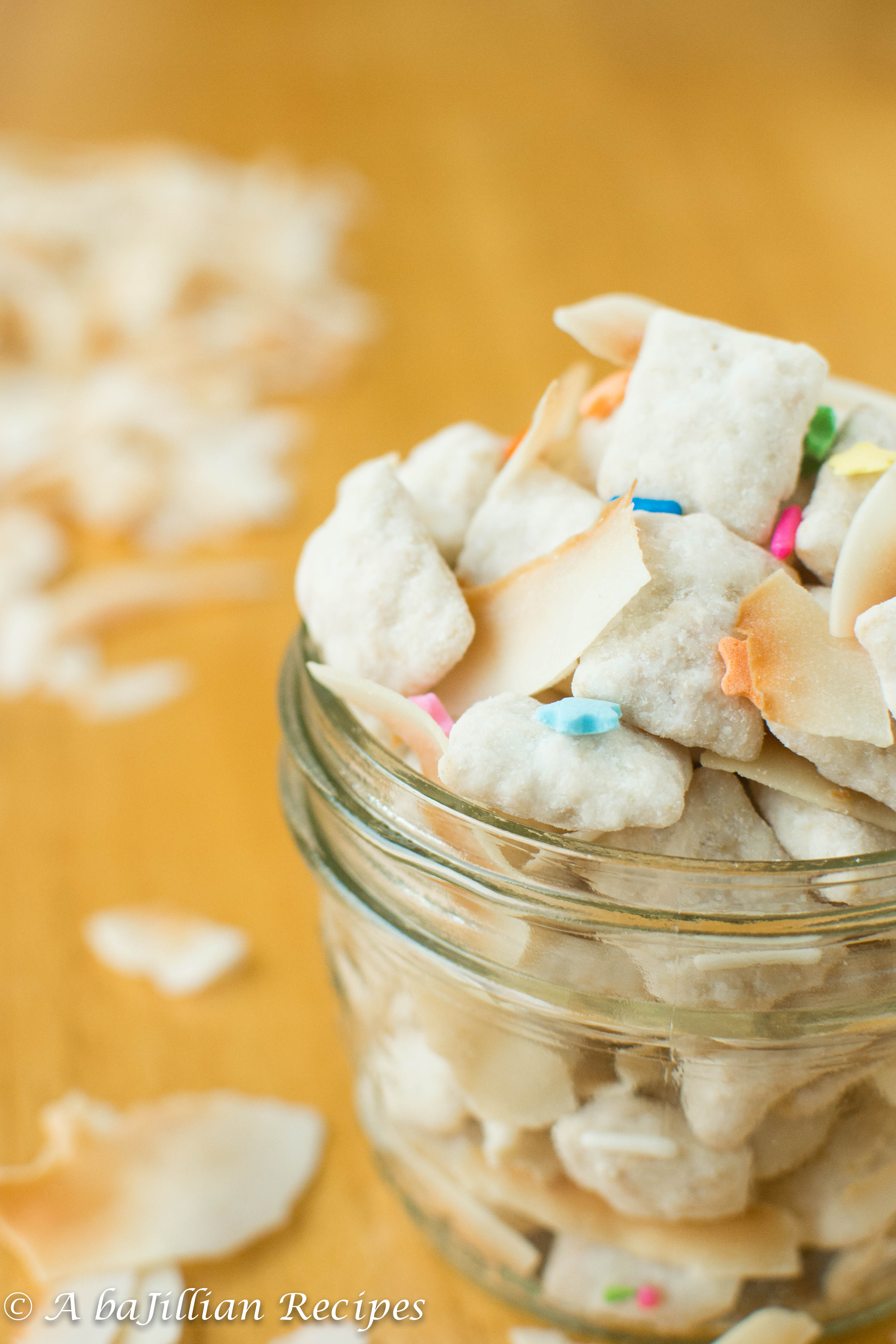Coconut Cake Batter Puppy Chow A Bajillian Recipes