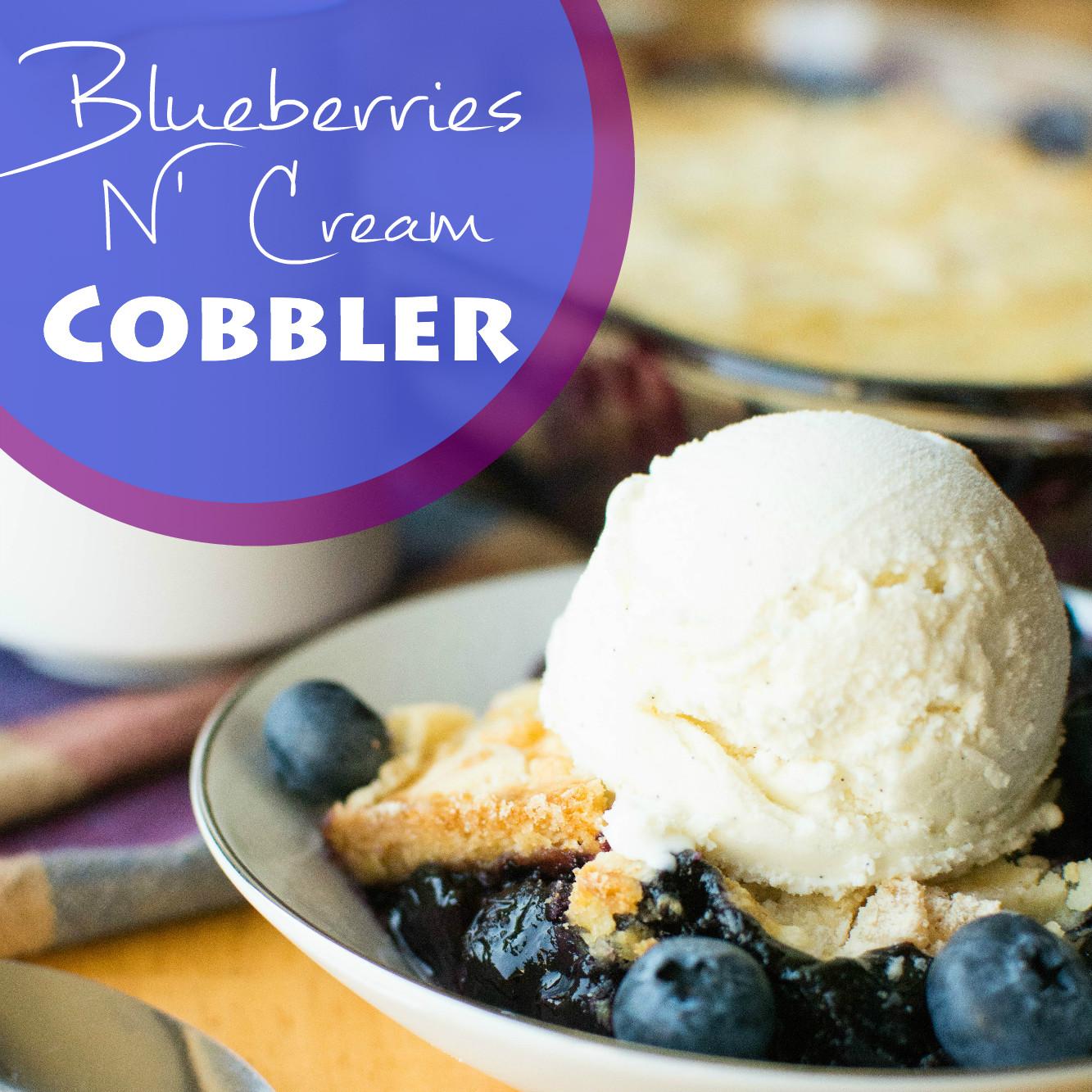Blueberries N' Cream Cobbler - A baJillian Recipes