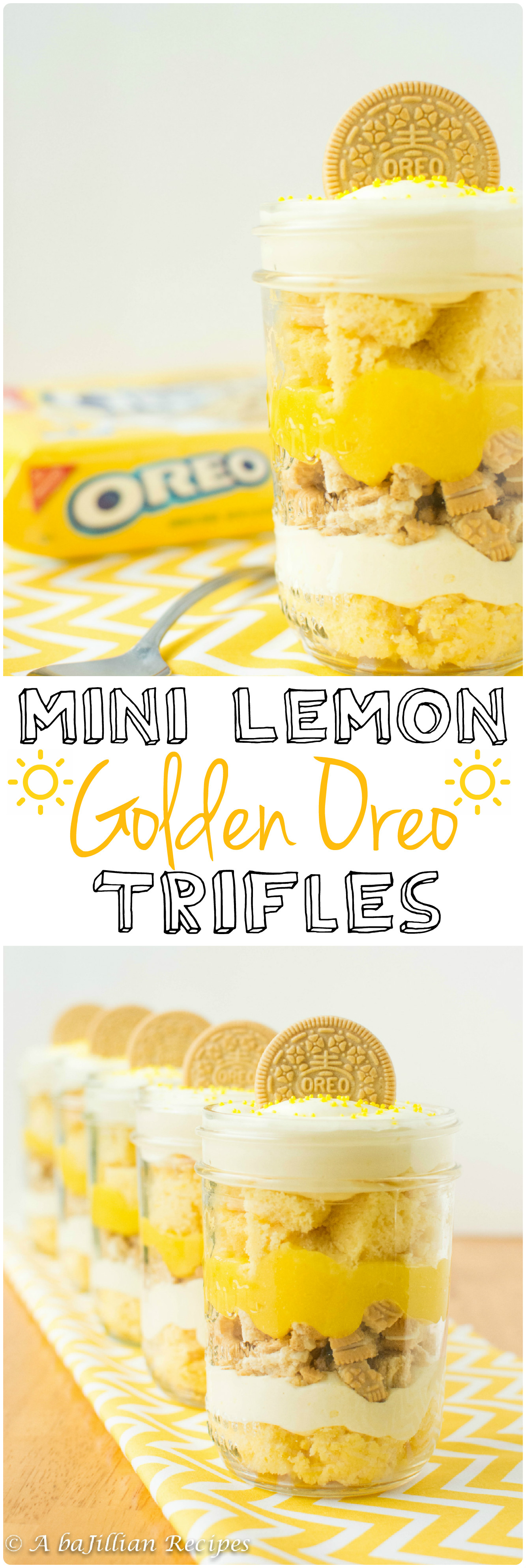 Mini Lemon Golden Oreo Trifles A Bajillian Recipes