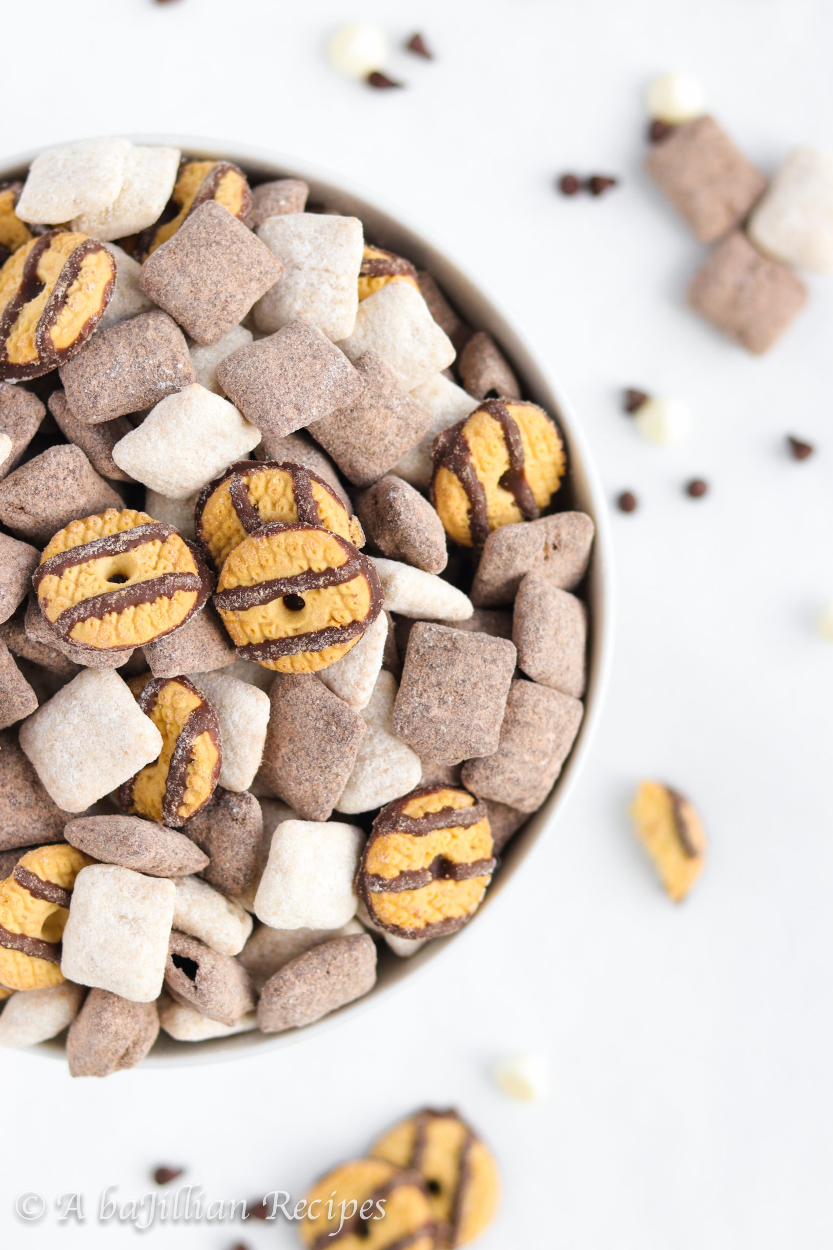 Black And White Cookie Puppy Chow A Bajillian Recipes